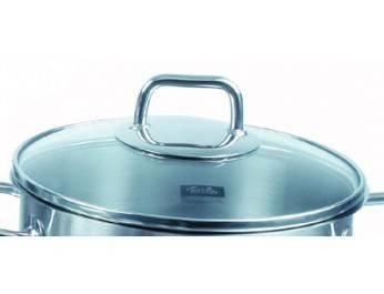 Poklice pro varné nádobí Venice a Viseo®- O 16 cm, sklo-nerez - - Fissler