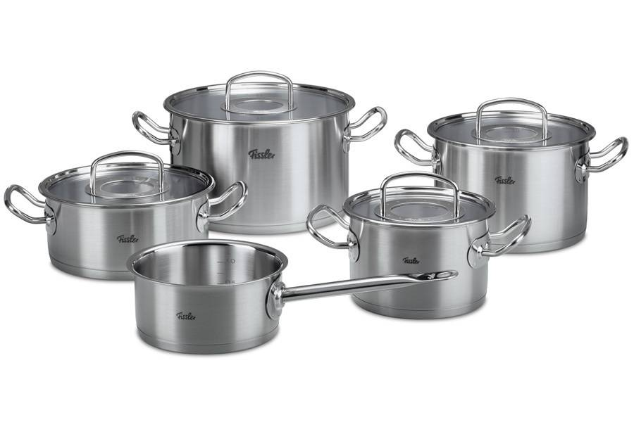 Sada nádobí 9 ks - nerez – Original profi collection ® - - Fissler