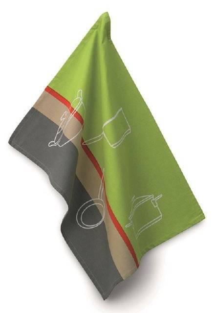 Utěrka na nádobí AMALIE zelená 50x70cm - Kela