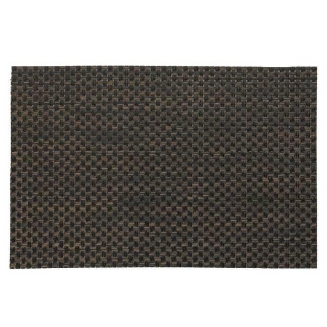 Prostírání PLATO, polyvinyl, hnědé/černé 45x30cm KL-15638 - Kela
