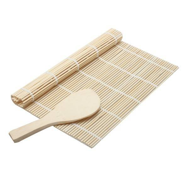 Bambusová rolovací podložka na sushi a lžíce - ILA