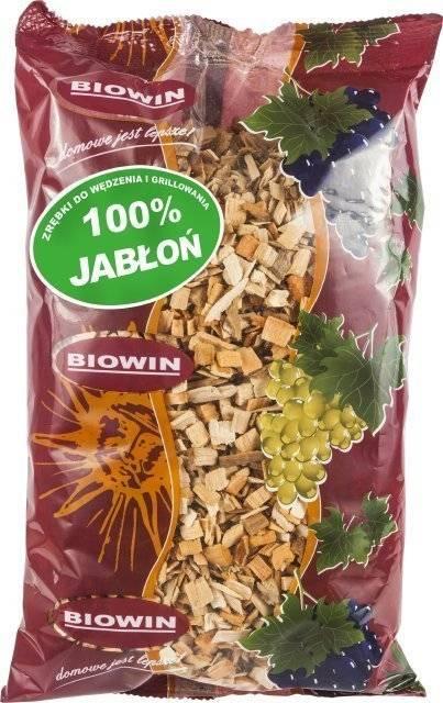 Dřevní štěpka na uzení a grilování - jabloň 450g - BIOWIN