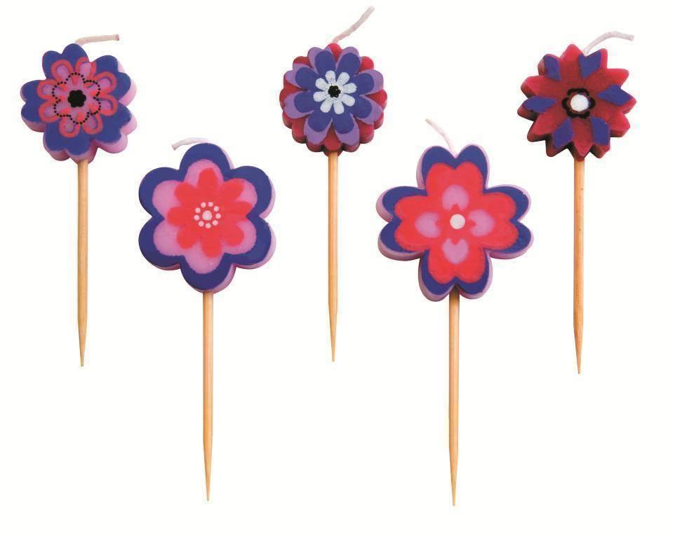 """Svíčky """"květiny"""" set – 5ks - Ibili"""