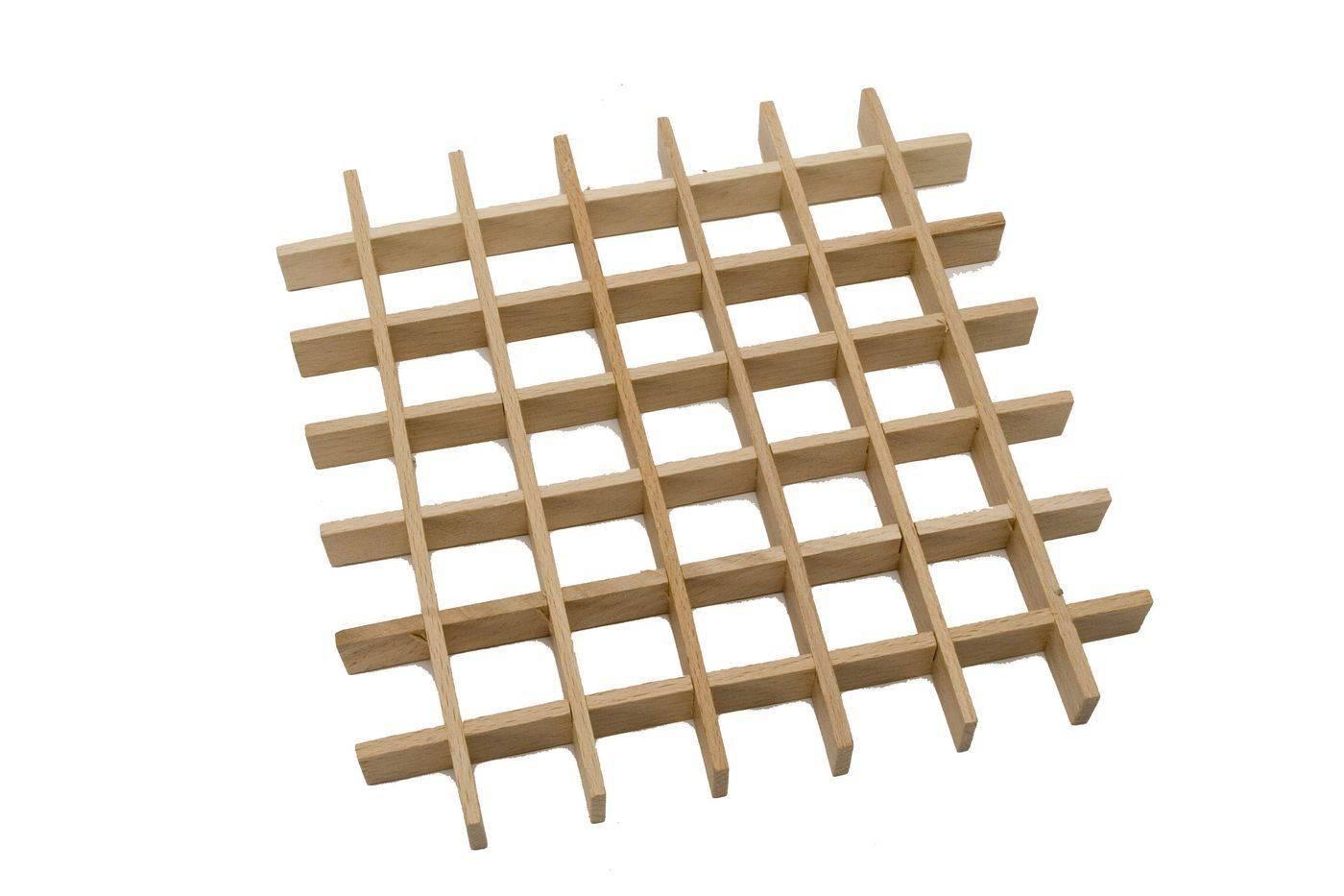 Podložka mřížková - 25 čtverečků, 195 x 195 mm - Dřevovýroba Otradov