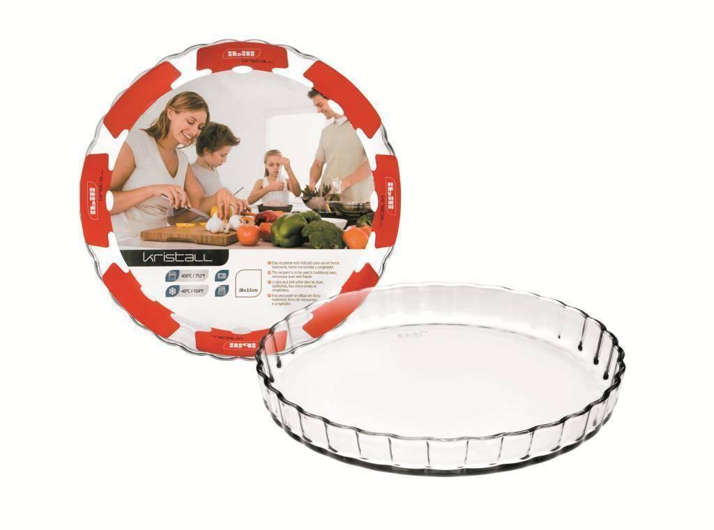 Forma na koláč skleněná 28x3,5cm - Ibili