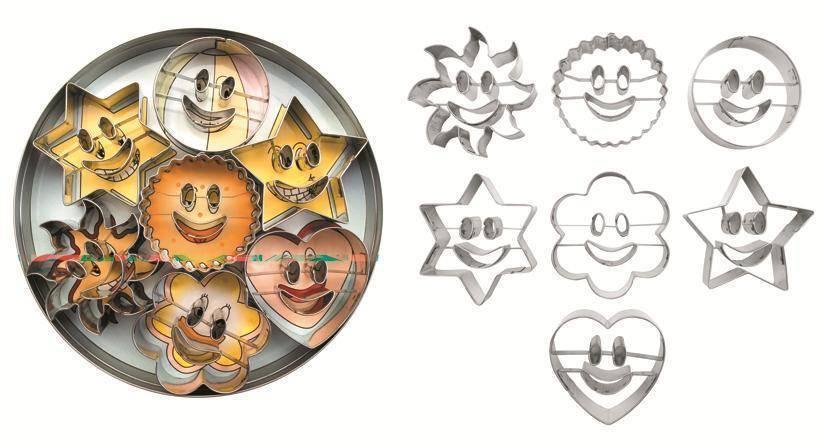 Vykrajovátka úsměvy set – 7ks - Ibili