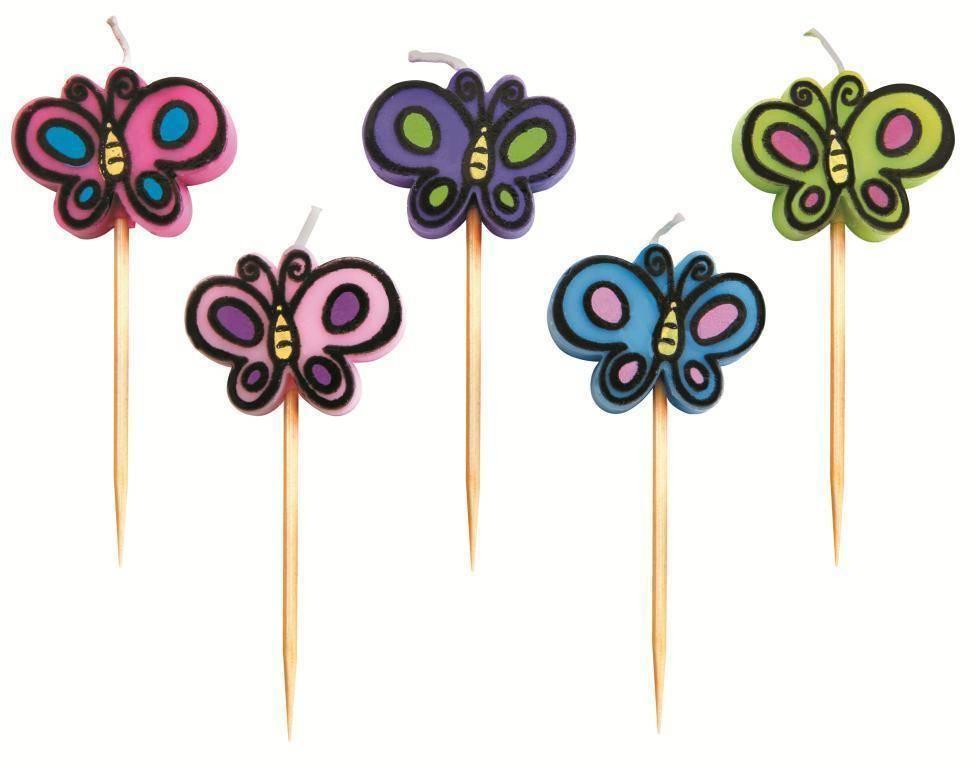 """Svíčky """"motýl"""" set – 5ks - Ibili"""
