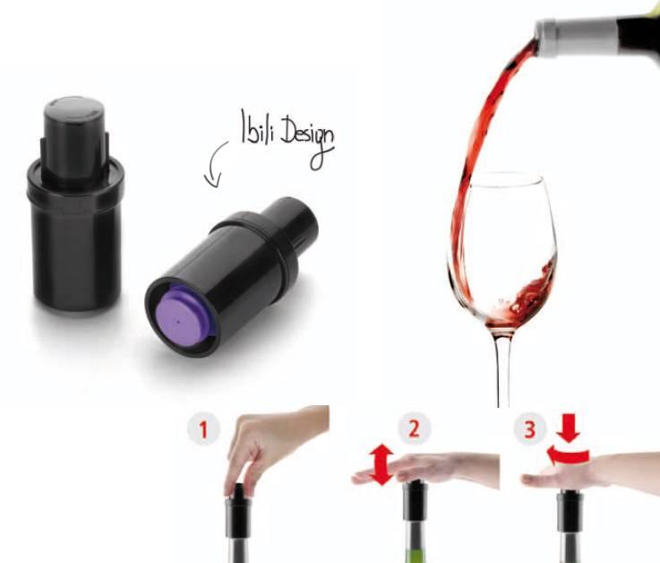Vákuový uzávěr lahve na víno - Ibili