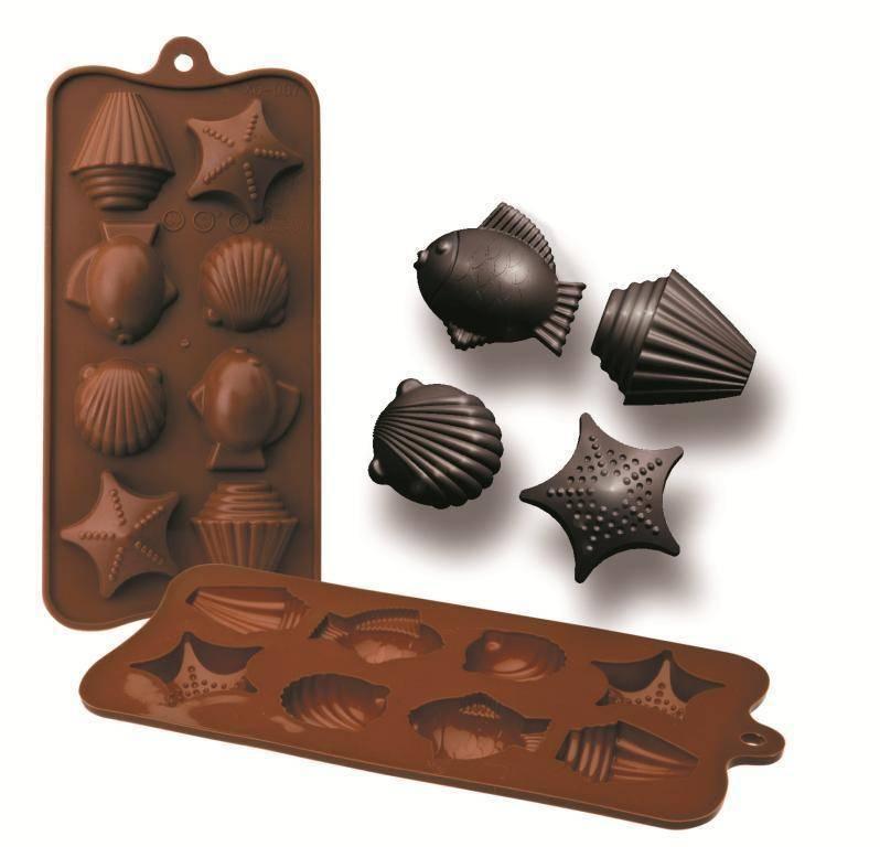 Formičky na čokoládu dary moře 10,5x21cm - Ibili