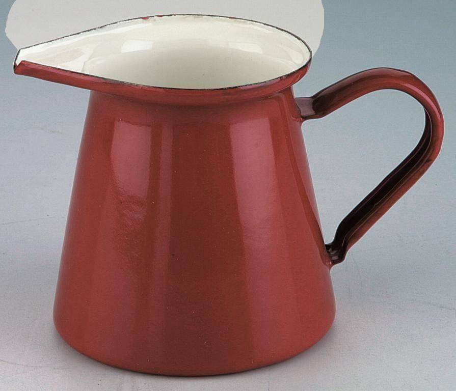 Smaltovaný džbánek na mléko - červený - Ibili