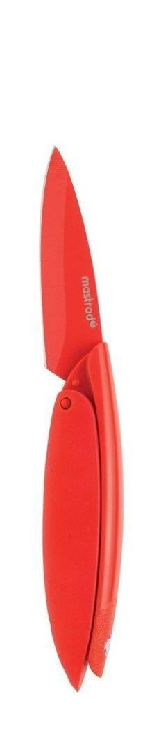 Nerezový nůž skládací Mastrad červený 7,6cm - Mastrad