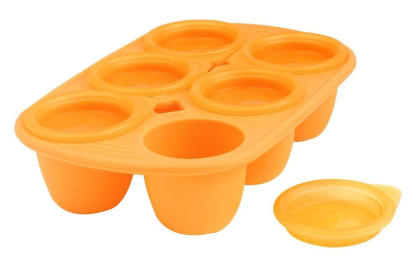 Silikonová miska Mastrad 6 porcí oranžová 60ml - Mastrad