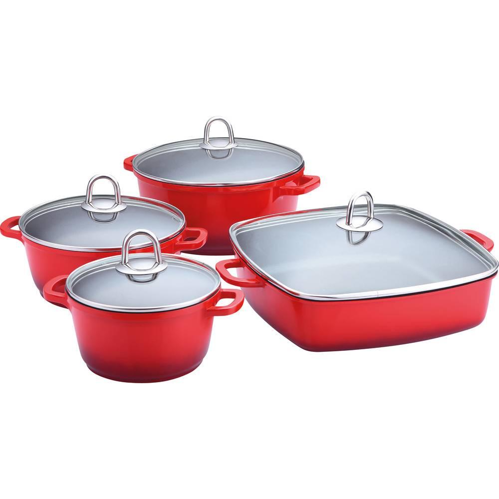 Sada nádobí 8 ks - červená keramika - Lamart - Lamart