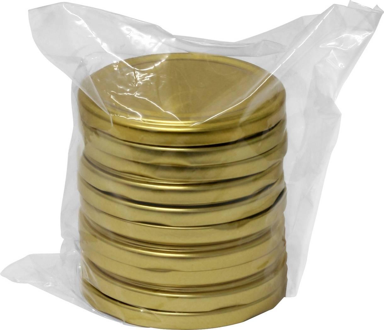 Víčka 100 - 10ks zlaté - BIOWIN