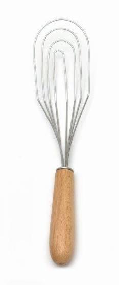 Šlehací metla plochá kov/dřevo - Klawe