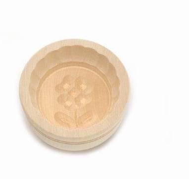 Forma na máslo kruhová - 125 g - javorové dřevo - Klawe