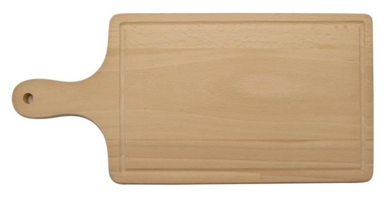 Dřevěné prkénko s drážkou 435x195x16mm - Dřevovýroba Otradov