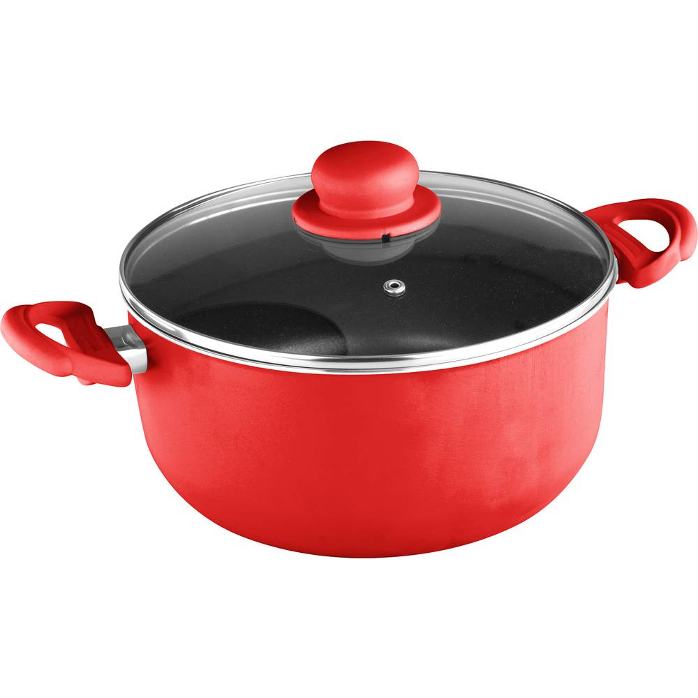 Hrnec s nepřilnavým povrchem Multicolor 4,5l červený - Lamart
