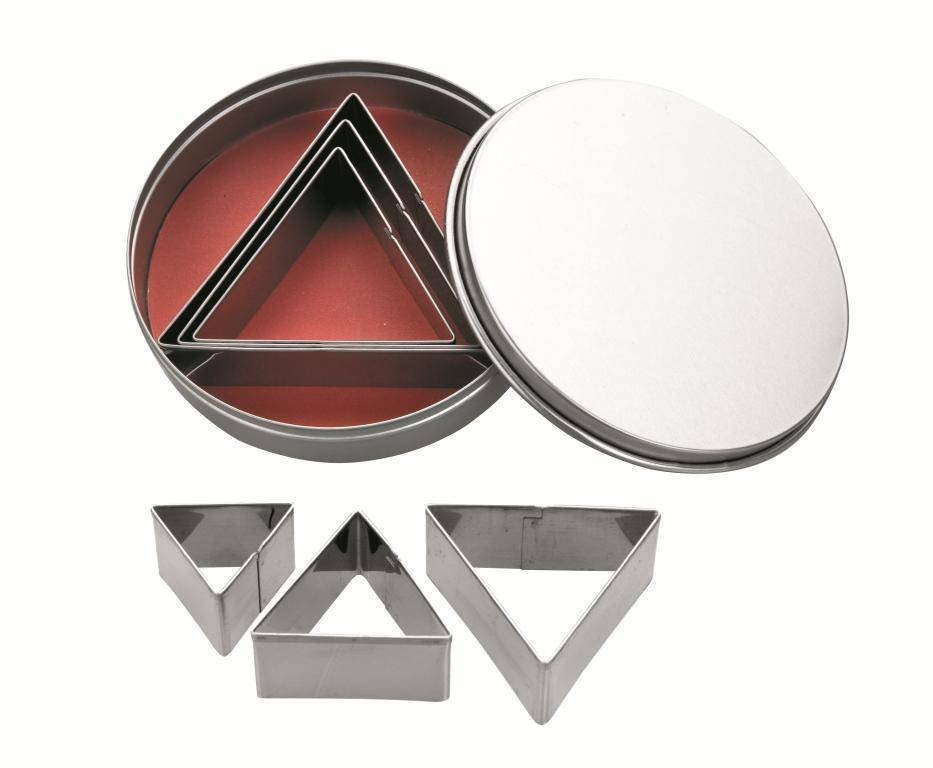 Nerezová vykrajovátka trojúhelník set – 6ks - Ibili