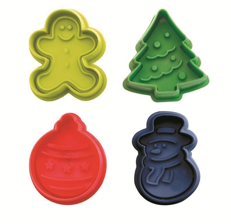 Plastová vykrajovátka Vánoce set – 4ks - Ibili