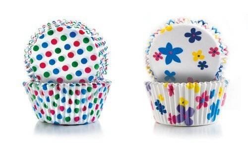 Papírové košíčky - puntíky a kytičky 2 x 50 ks - Ibili