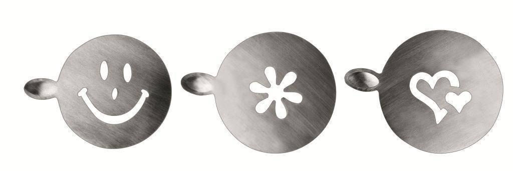 Šablona na zdobení cappuccina 3ks - Ibili