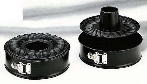 Černá forma na pečení s násadou 26cm - Ibili