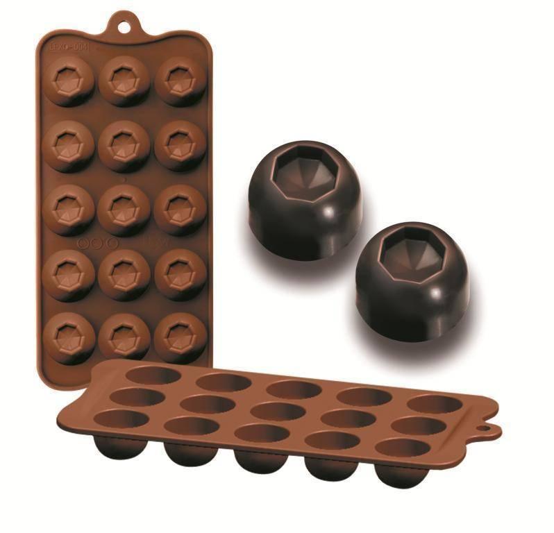 Formičky na čokoládu diamant 10,5x21cm - Ibili