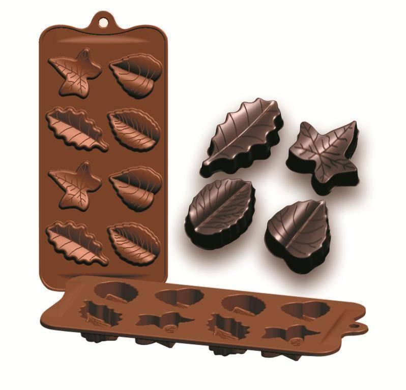Formičky na čokoládu listy 10,5x21cm - Ibili