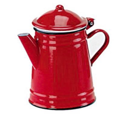 Smaltovaná konvice na kávu 0,5l - červená - Ibili