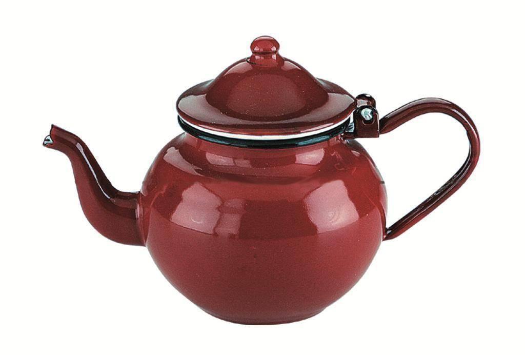 Smaltovaná konvička na čaj 0,75l - červená - Ibili