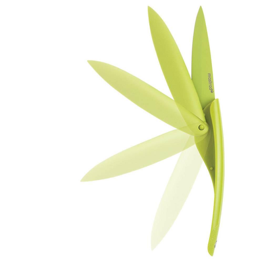 Nerezový nůž skládací Mastrad zelený 10cm - Mastrad