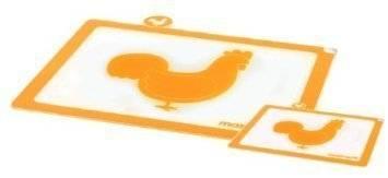 Krájecí prkénko plastové na drůbež oranžová set – 2ks - Mastrad