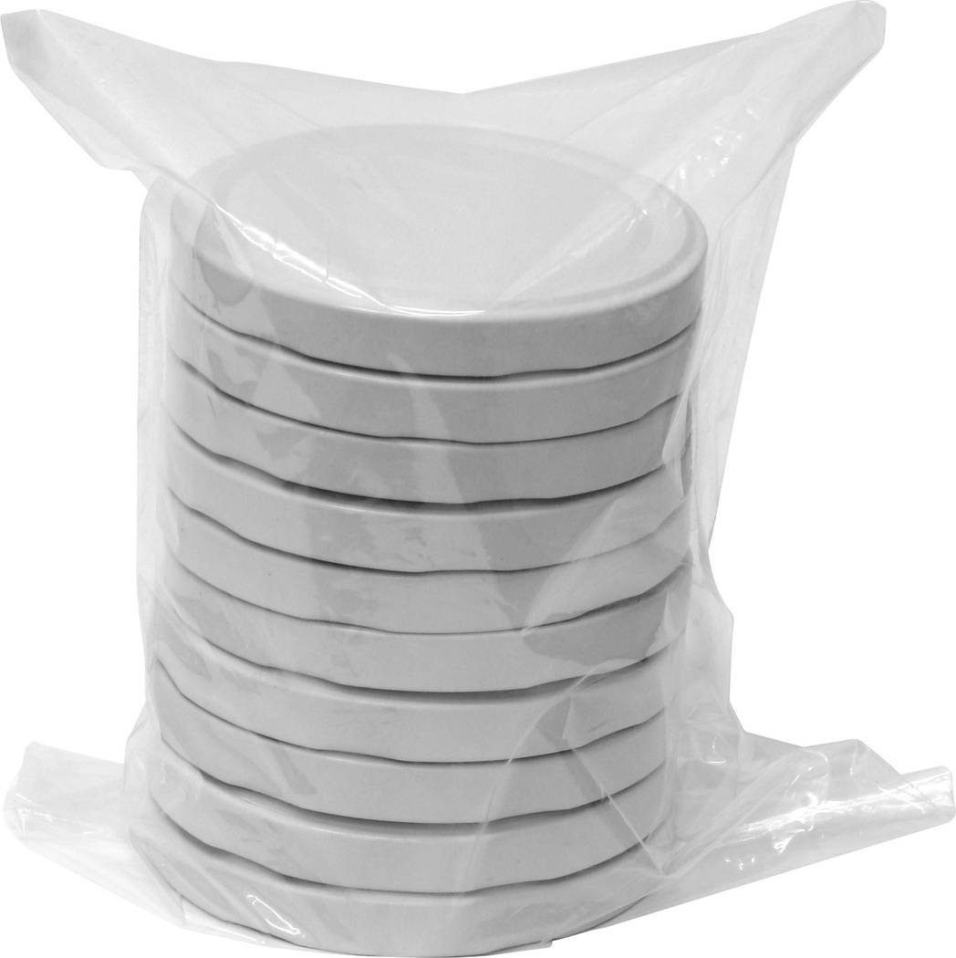 Víčka 82/6 - 10ks bílé - BIOWIN