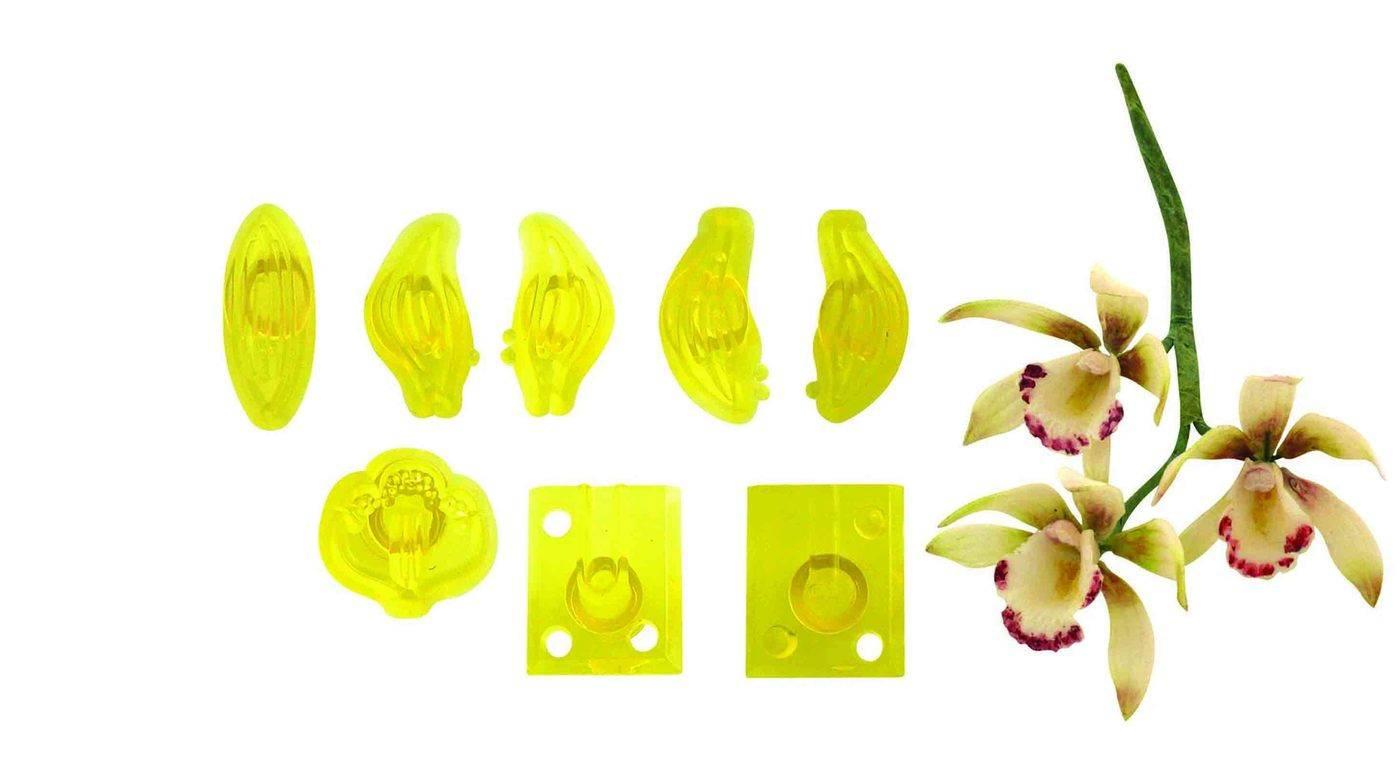 Vykrajovátka 8ks – malá orchidej Cymbidium - PME