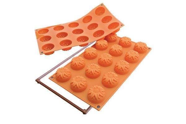 Silikonová forma na dortíky – slunečnice - Silikomart