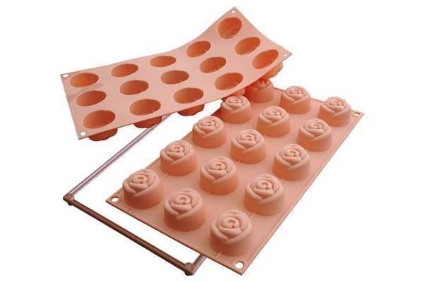 Silikonová forma na dortíky – růžičky - Silikomart