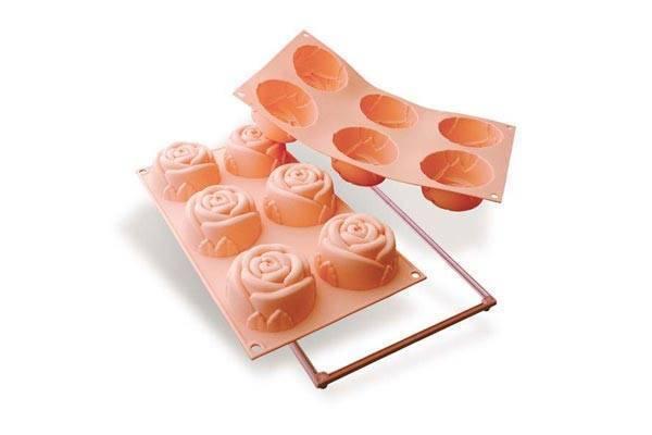 Silikonová forma na dortíky – velké růžičky - Silikomart