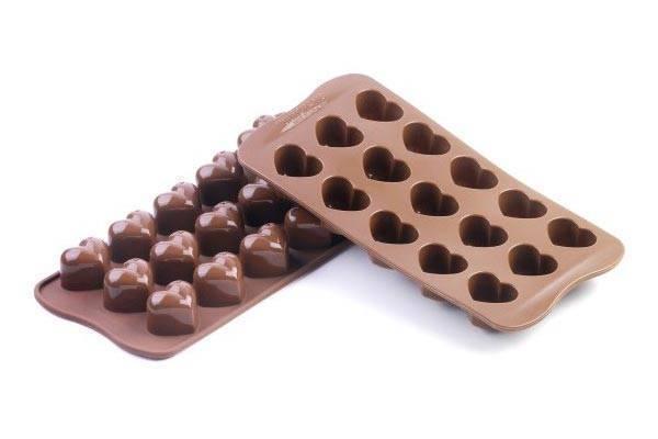 Silikonová forma na čokoládu a led – srdce - Silikomart