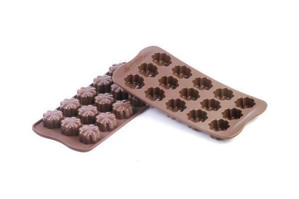 Silikonová forma na čokoládu – květiny - Silikomart