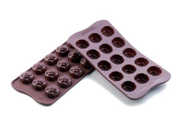 Silikonová forma na čokoládu – růžičky - Silikomart