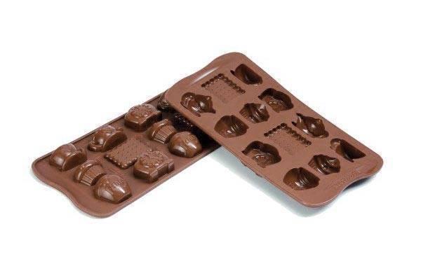 Silikonová forma na čokoládu – čaj o páté - Silikomart