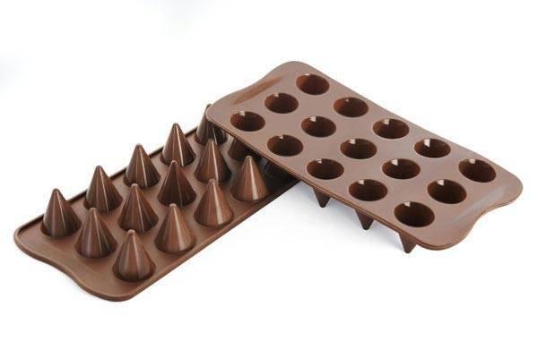 Silikonová forma na čokoládu – kornoutky - Silikomart