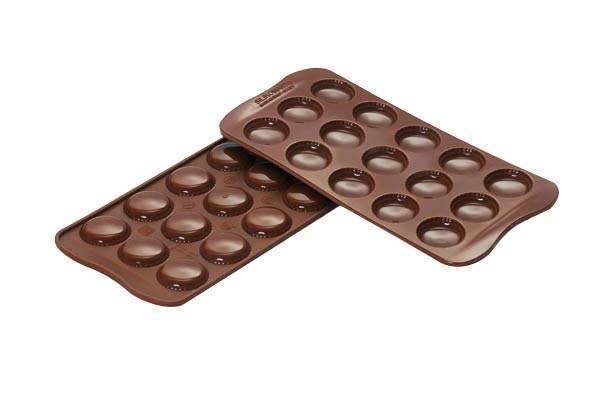 Silikonová forma na čokoládu – makronky - Silikomart