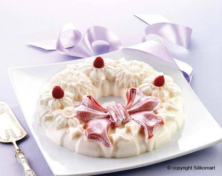 Silikonová forma na pečení – květinový věnec - Silikomart