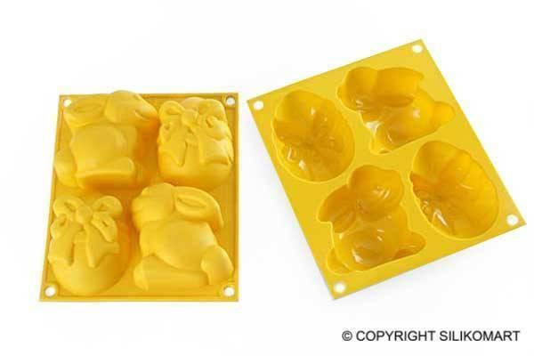 Silikonová forma na dortíky – veselé Velikonoce - Silikomart