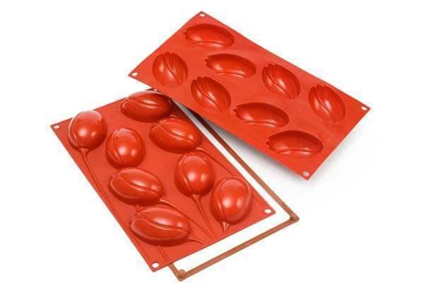 Silikonová forma na dortíky – tulipány - Silikomart