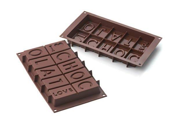 Silikonová forma na čokoládu I LOVE CHOCOLATE - Silikomart
