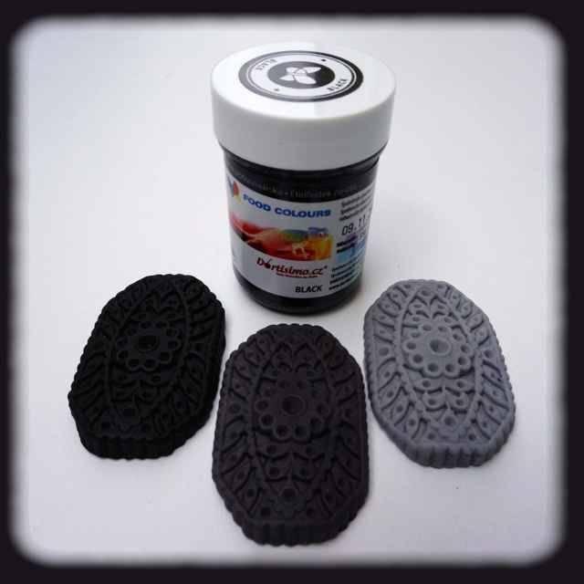 Gelová barva (Black) černá 35 g - Food Colours