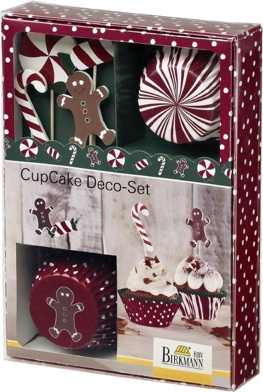 Vánoční sada na zdobení muffinů CANDY CHRISTMAS - Birkmann
